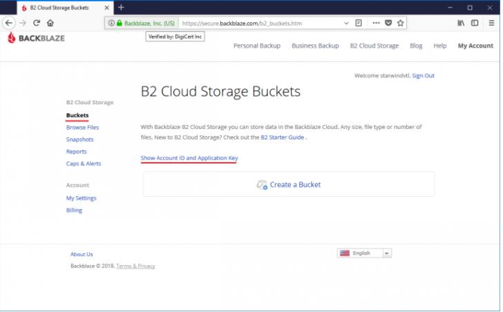 B2 Cloud Storage Buckets