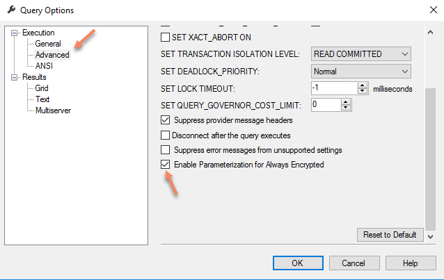 Parametrization for Always Encrypted SSMS