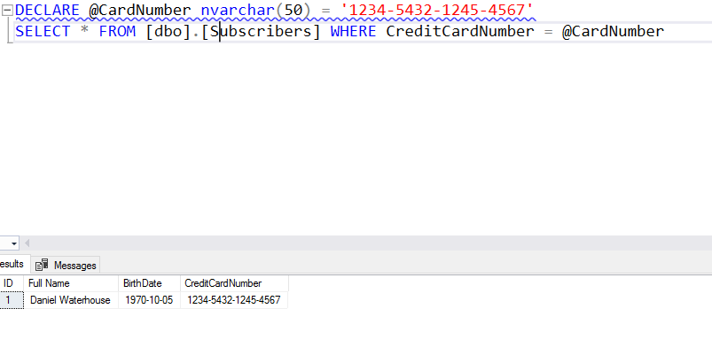 SSMS - re-run parametrized query