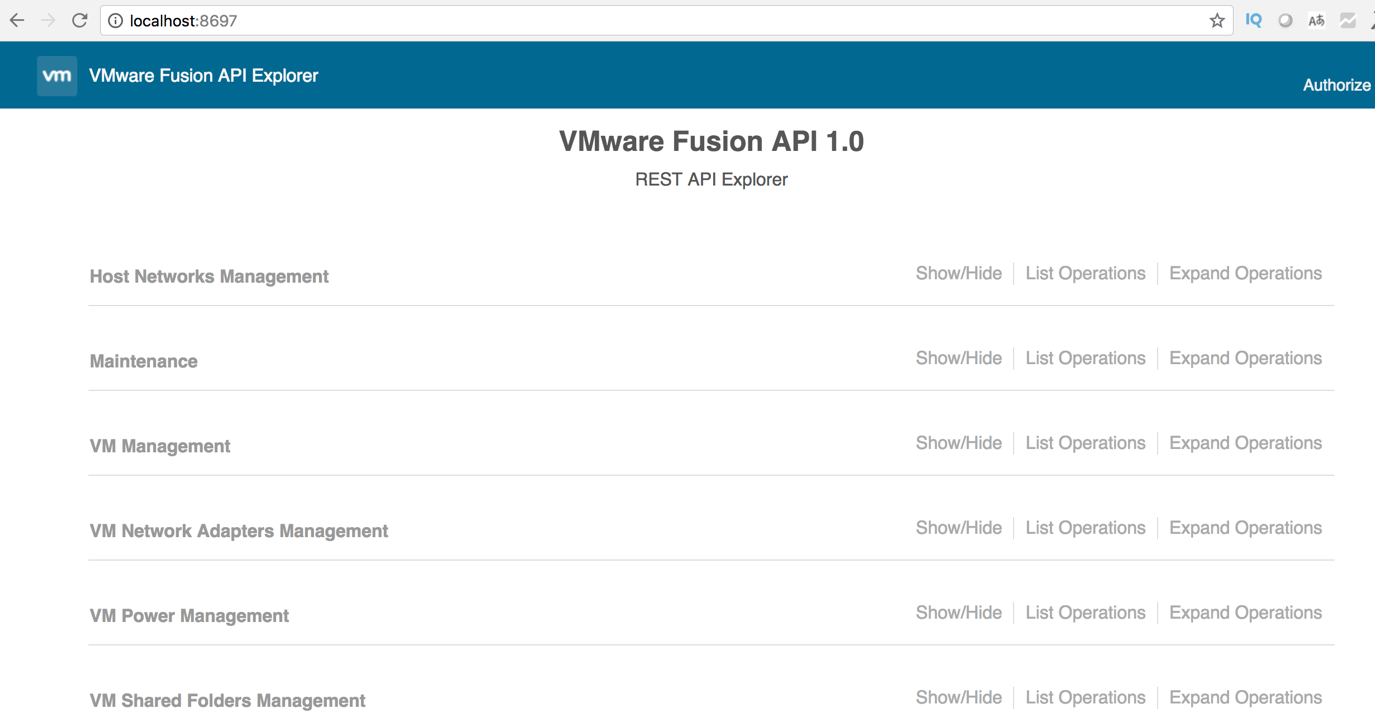 How does REST API work in VMware Fusion and VMware