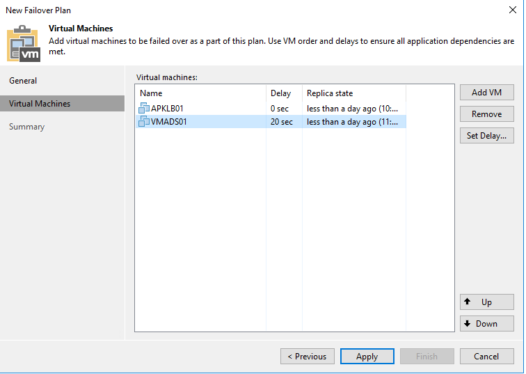 Make a disaster recovery plan with Veeam Backup