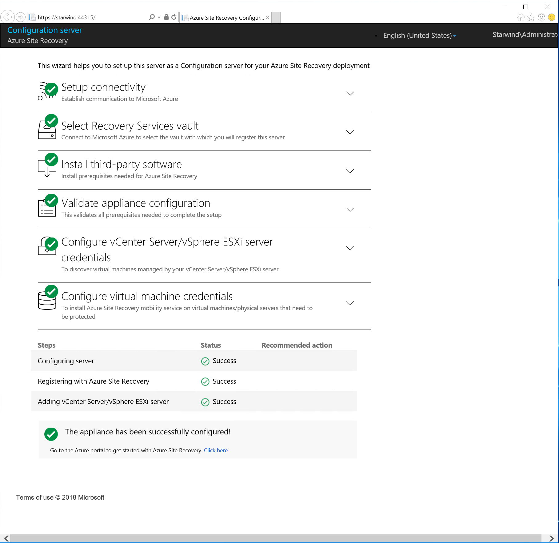 Use Azure Site Recovery to migrate to Azure from your VMWare