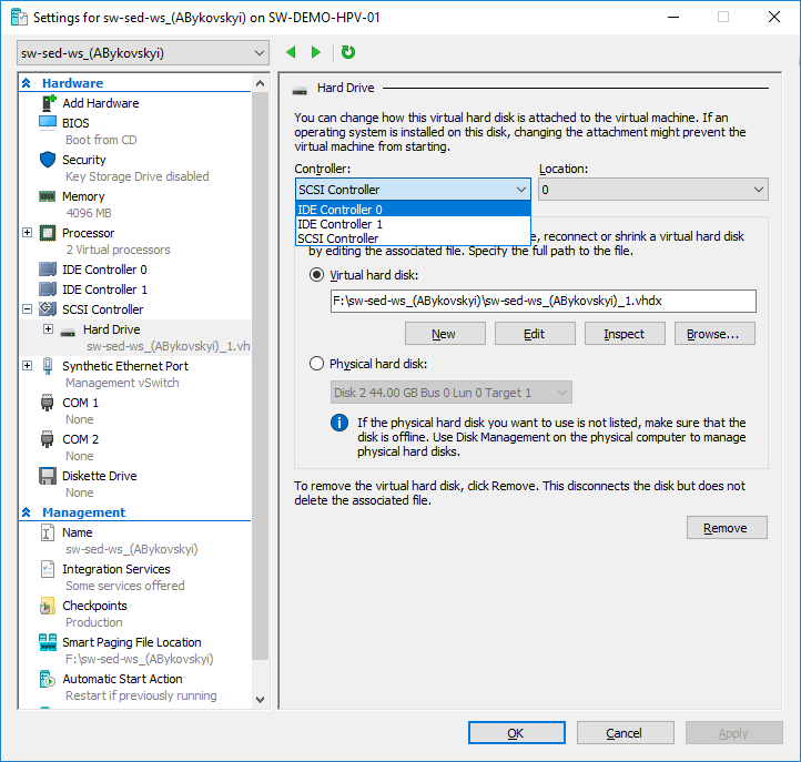 Starwind v2v converter internal error