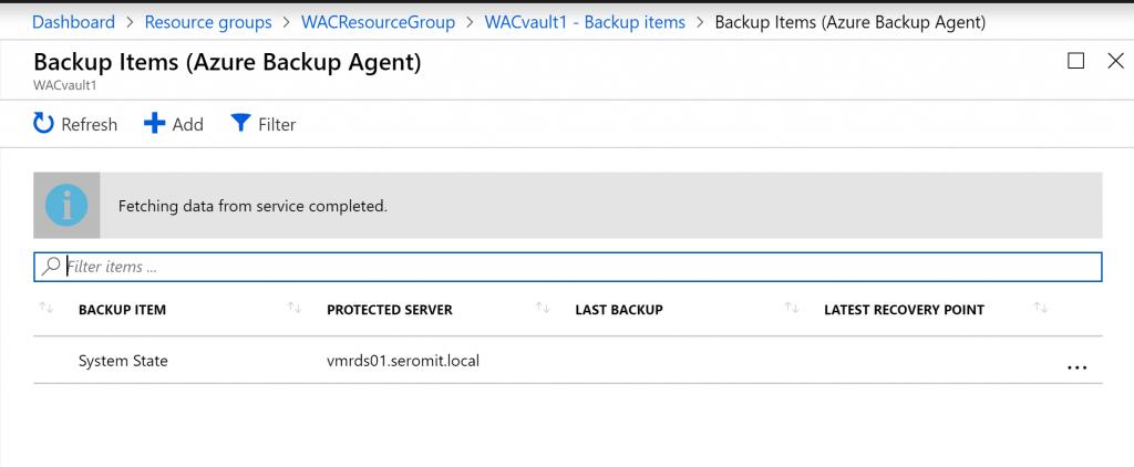Azure Backup Agent