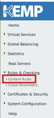 Kemp LoadMaster - Content Rules
