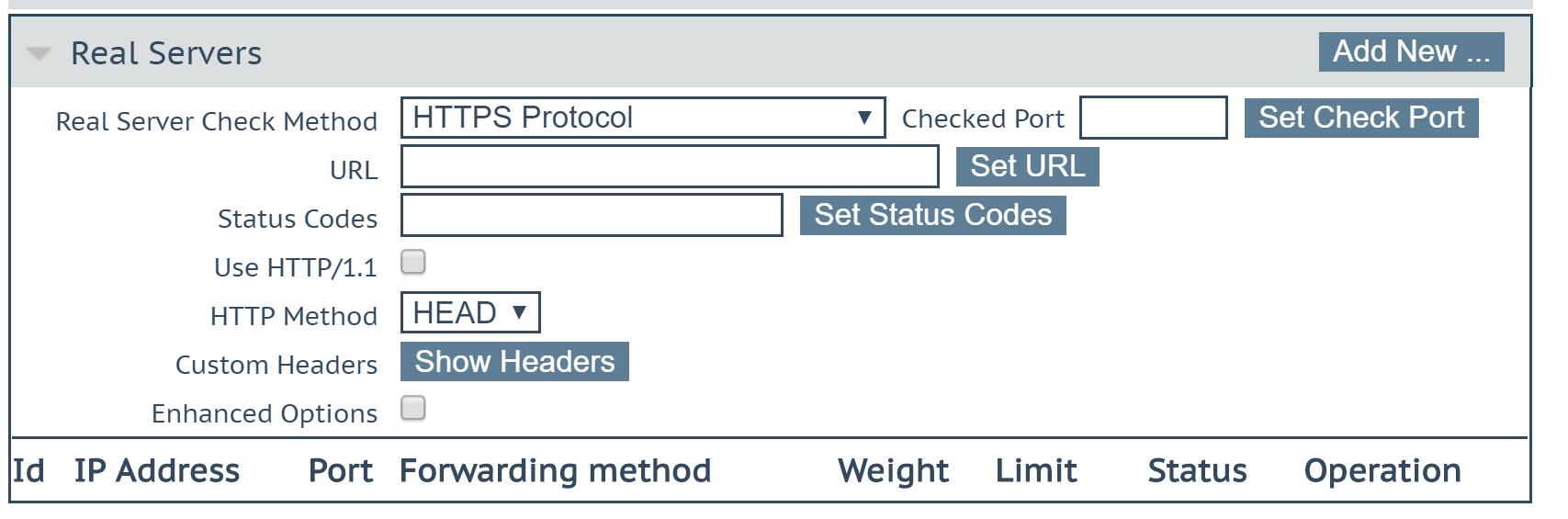 Kemp LoadMaster - Real Servers
