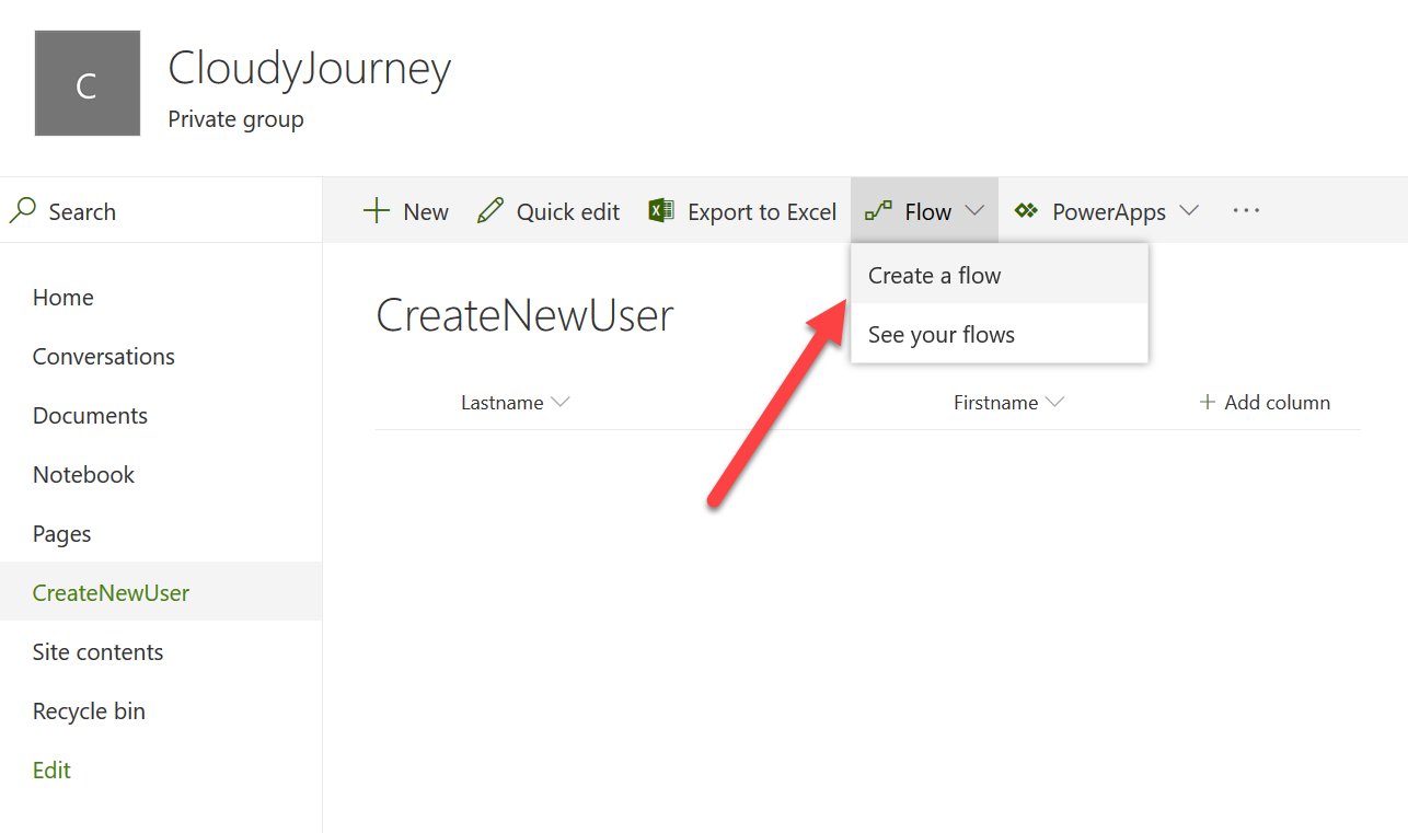 SharePoint Online site - Cloud Journey