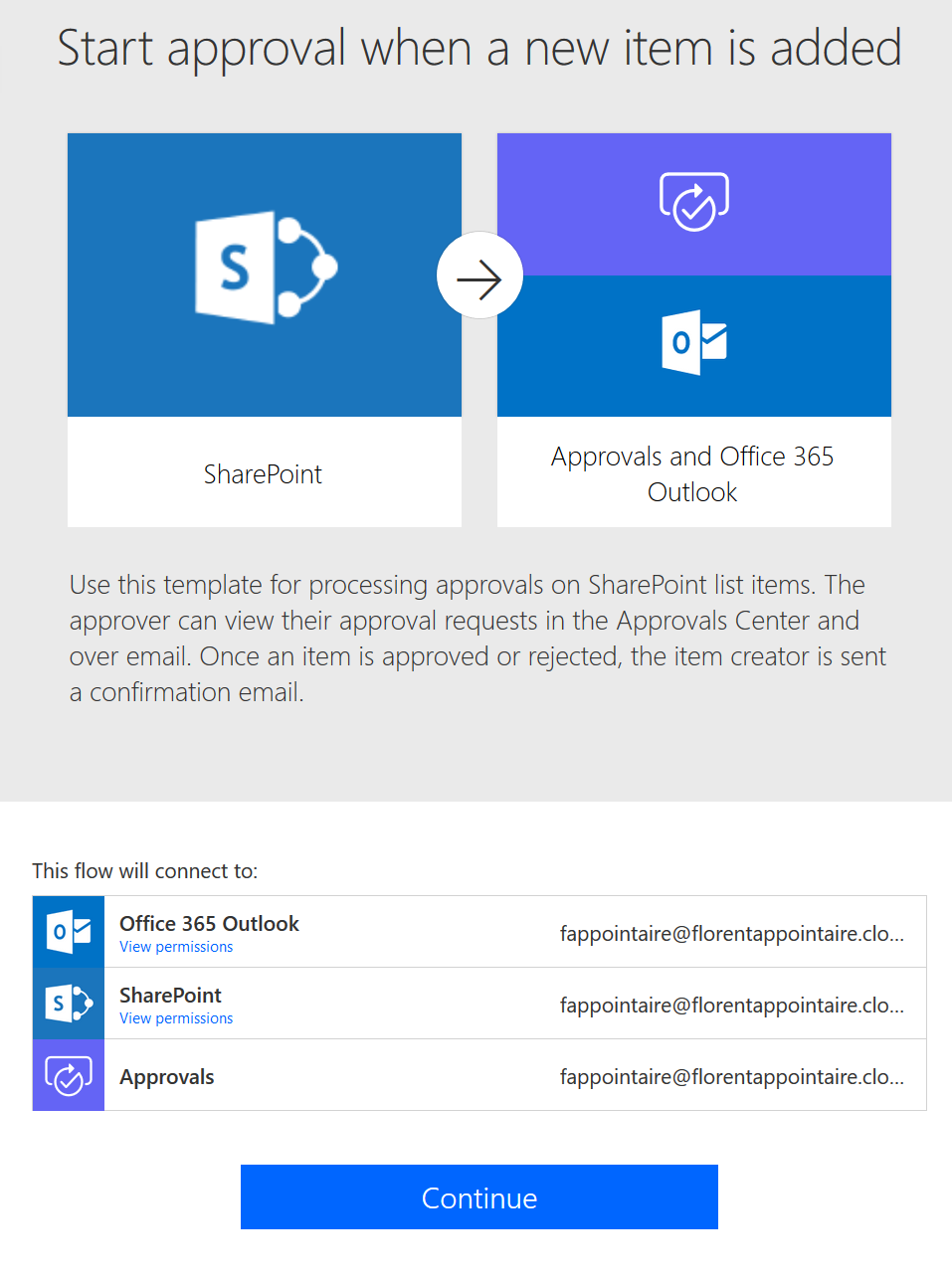 SharePoint Online site - Start Approval