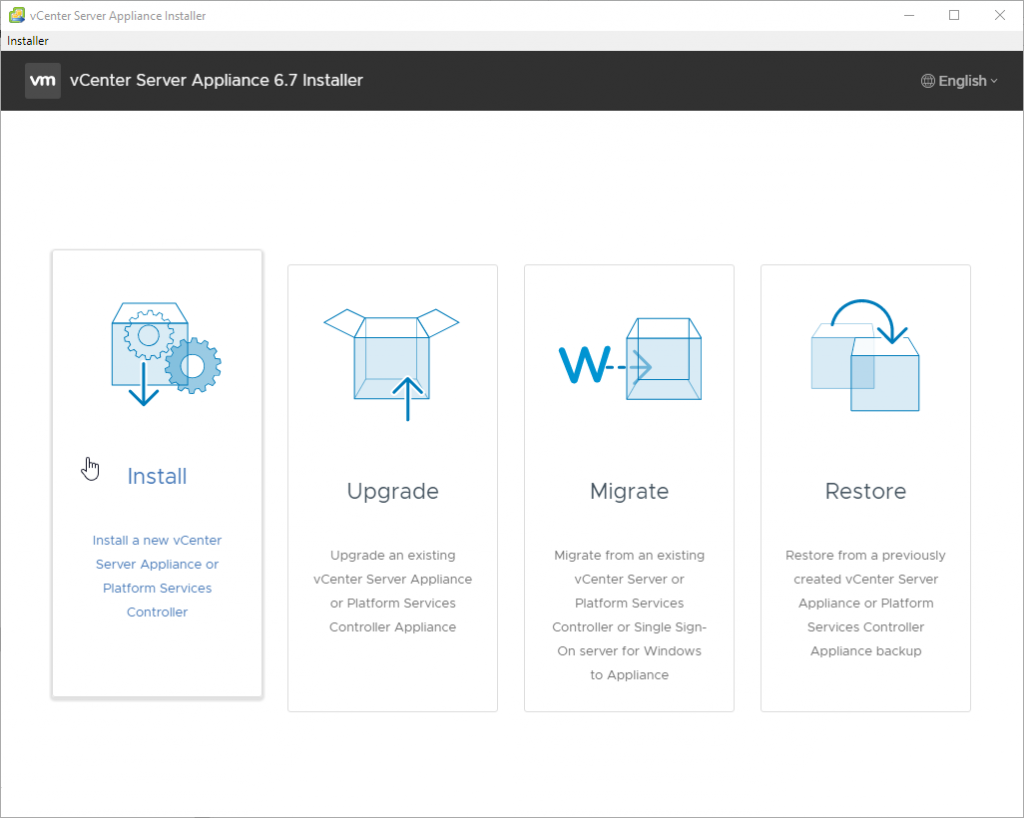 Install a New vCenter Server Appliance
