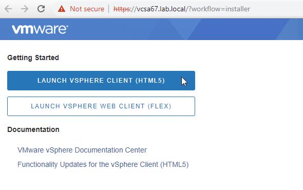 VMware Launch vSphere HTML5 Web client