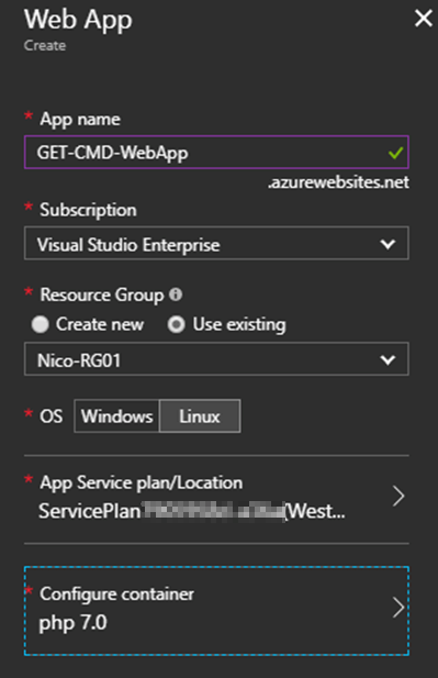 web app creating