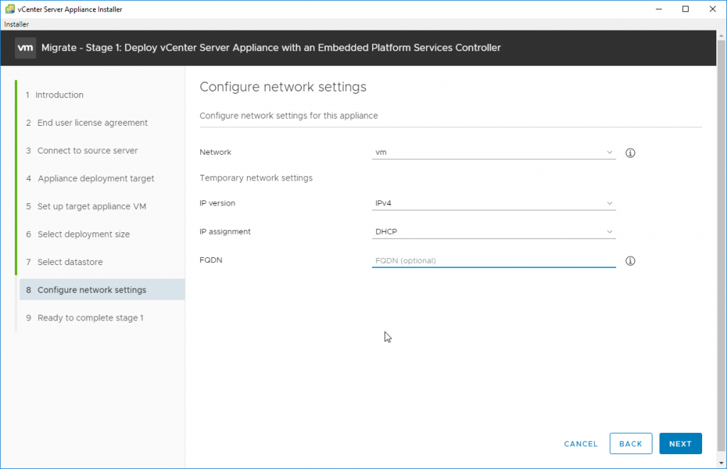 Configure Network Settings