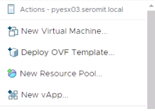 deploy a VM from OVF template