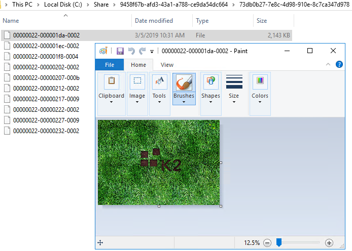Files list