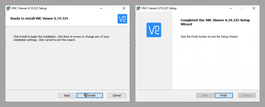 VNC viewer installed - img