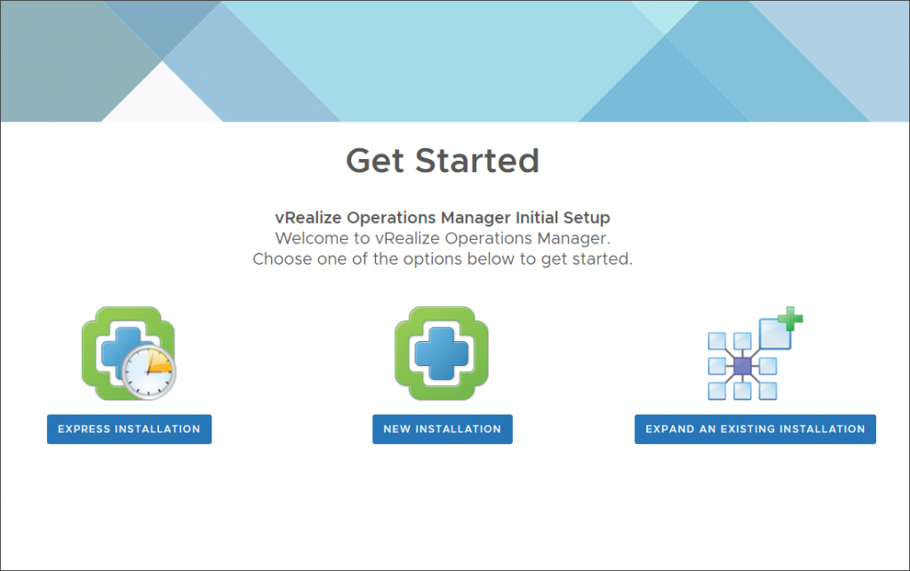 vROPS Quick Start Page