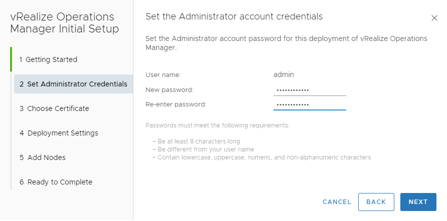 Set the administrator password