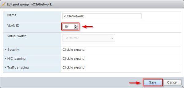 Specify the VLAN ID