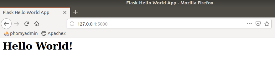 Flask Hello World App