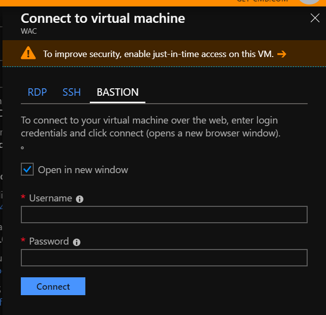 Connect to a Virtual Machine using the Azure Bastion