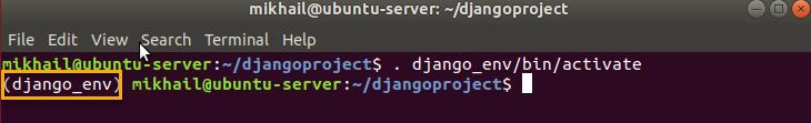 running activate script