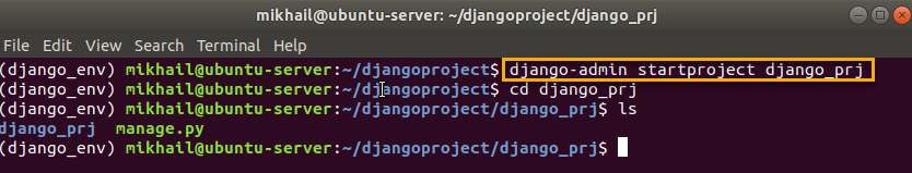 django-admin startproject