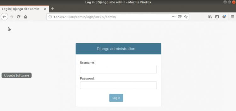 Django site admin page