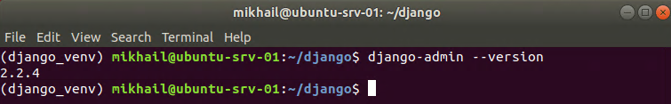 Checking Django version