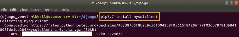 Installing mysqlclient