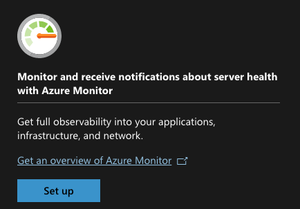 Azure Monitor section