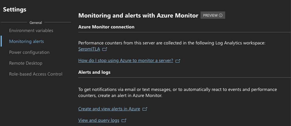 General | Monitoring alerts