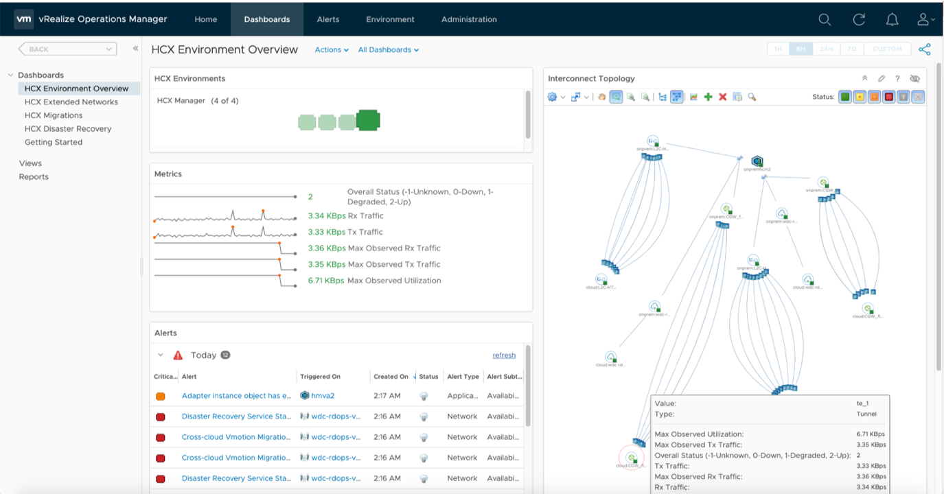 vRealize Operations Management Pack for HCX