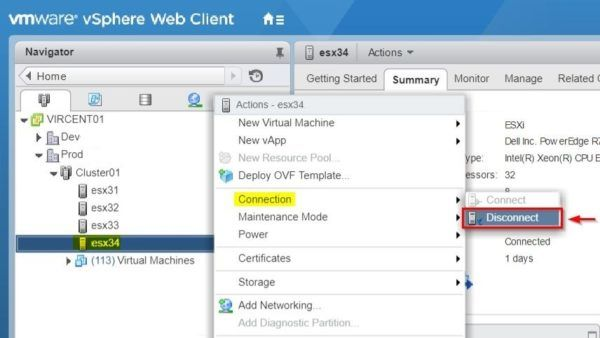 Migrate VMs to different clusters with vMotion - Guide