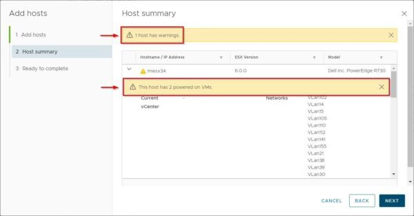 Add the source host to the 6.7 cluster