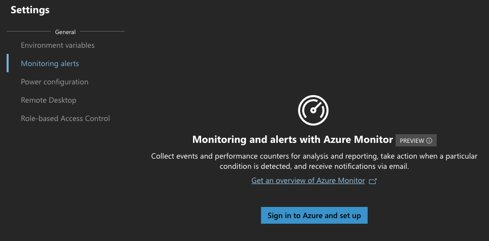 Sign in to Azure and set up