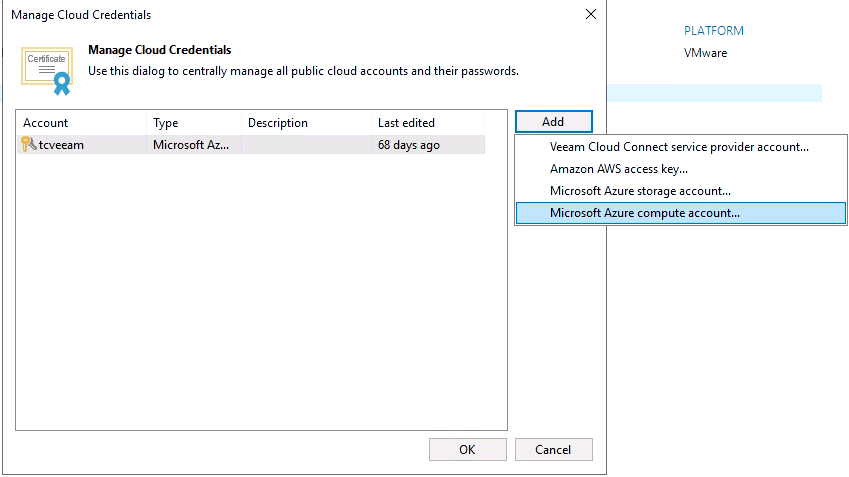 Microsoft Azure compute account