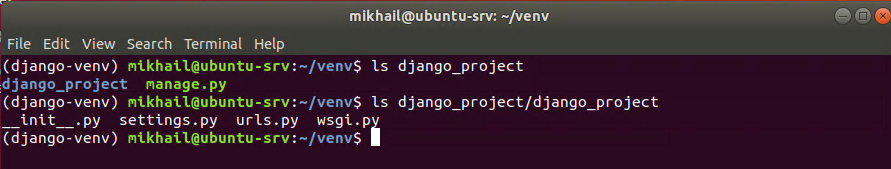 Django project folder contents