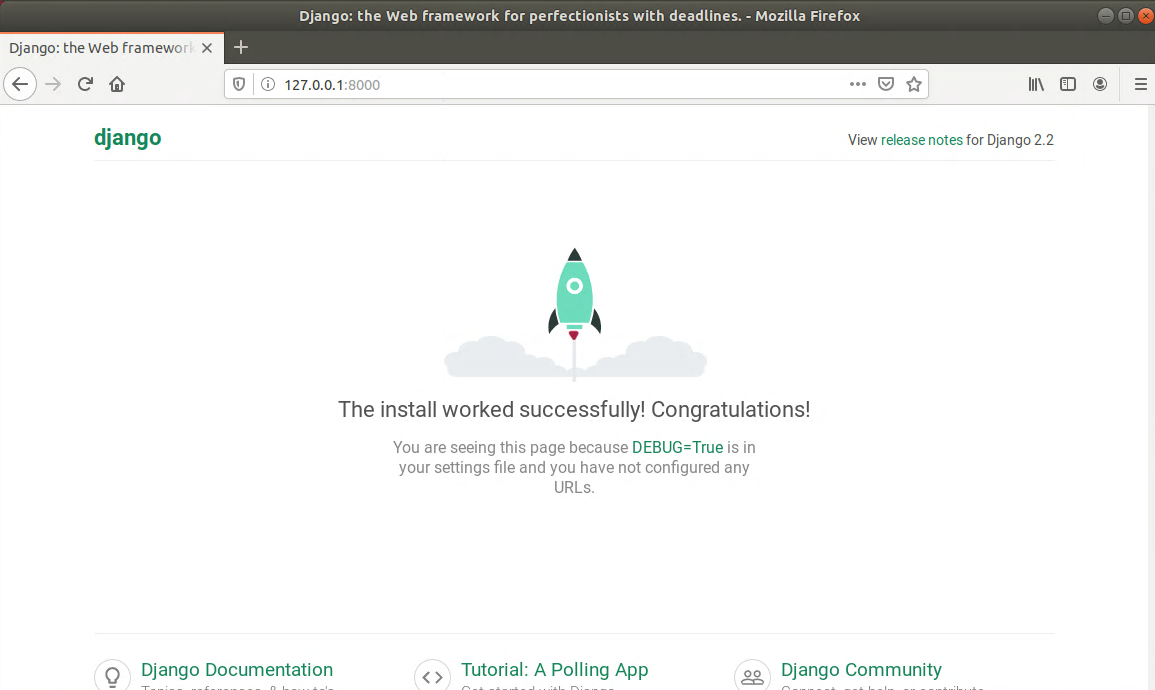 Django – Installation Successful page
