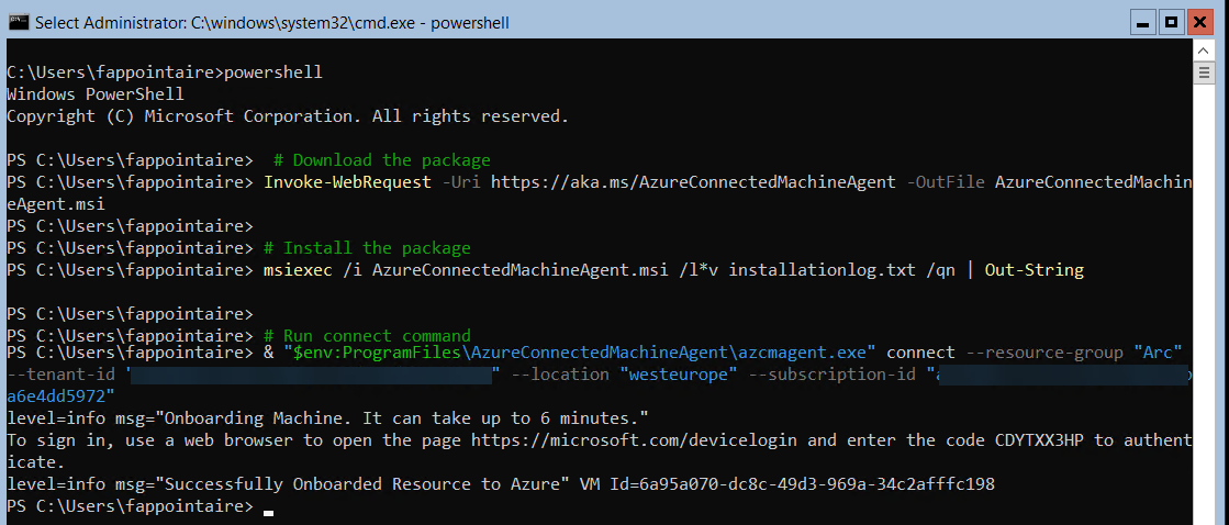 Download the Powershell script