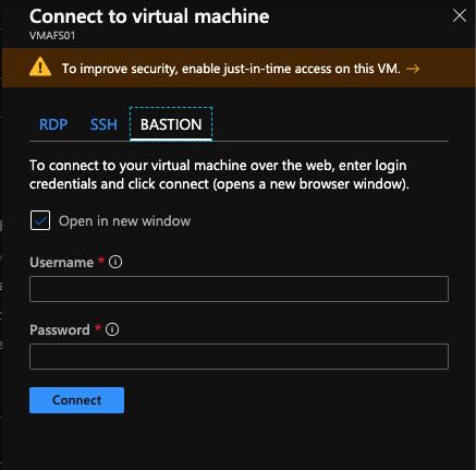 Connect to VM through Azure Bastion