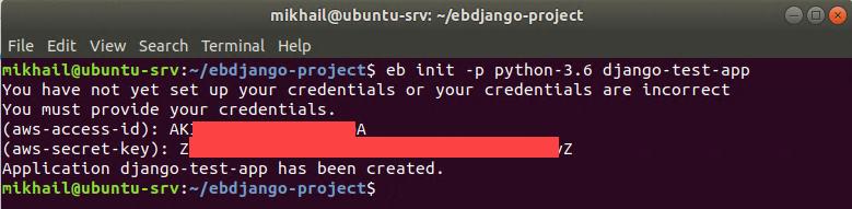 Initializing EB CLI repository
