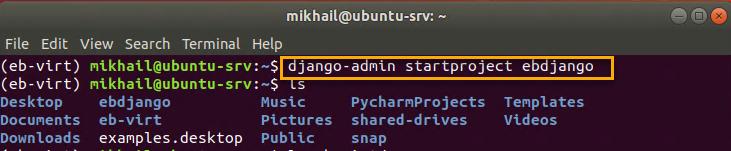 Creating Django project