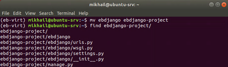 Renaming Django project folder