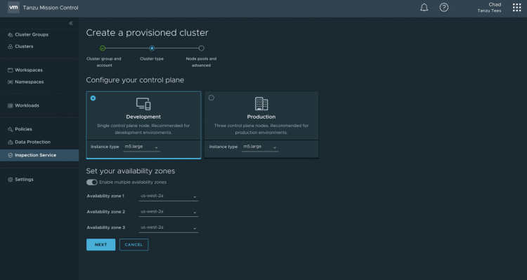 Creation and deployment of the provisioned K8s on-premise and cloud clusters