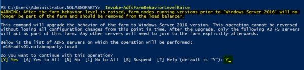 Upgrade current FBL level to Windows Server 2016