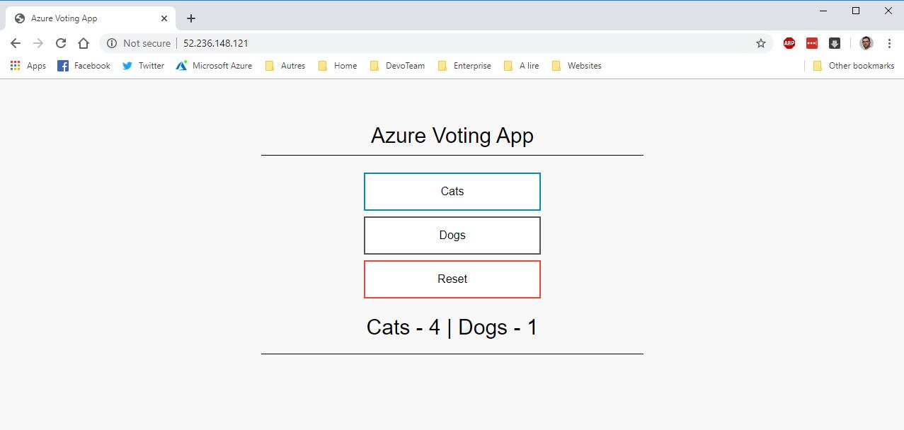 Azure voting app