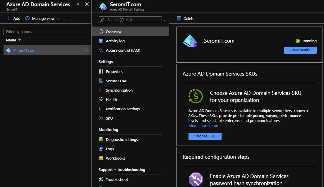 Azure Active Directory Domain Service