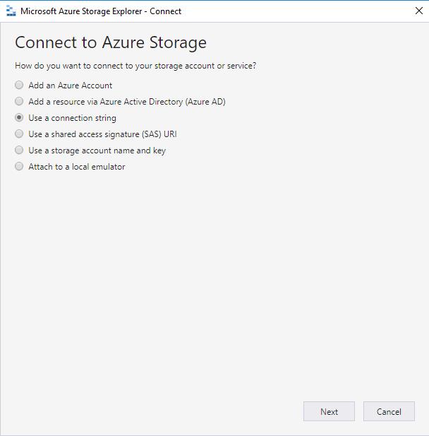 Open Azure Storage