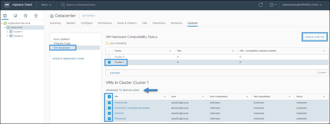 VM Hardware Upgrade via vSphere Update Manager