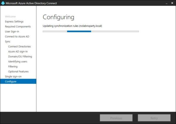 Azure AD Connect tool